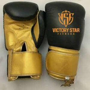 Black/Gold VSF Boxing Gloves: Adult