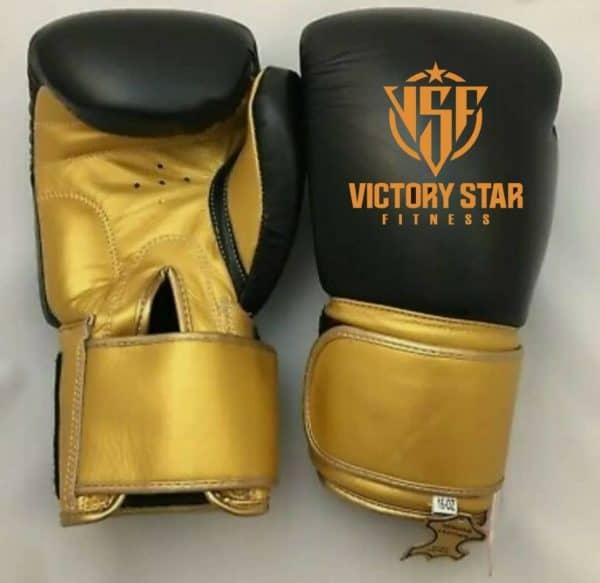 Black/Gold VSF Boxing Gloves: Adult